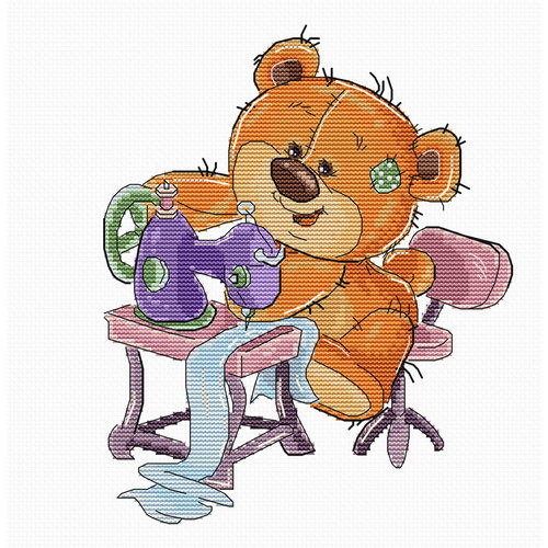 Luca-S Cross stitch kit Teddy Bear Sewing - Luca-S