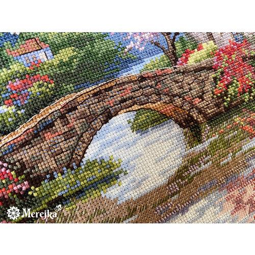 Merejka Cross stitch kit Quaint Village Shops - Merejka