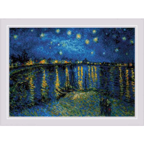 RIOLIS Borduurpakket Starry Night Over the Rhone after Van Gogh's Painting - RIOLIS