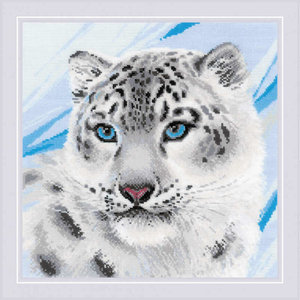 RIOLIS Borduurpakket Snow Leopard - RIOLIS