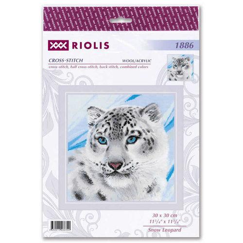 RIOLIS Cross stitch kit Snow Leopard - RIOLIS