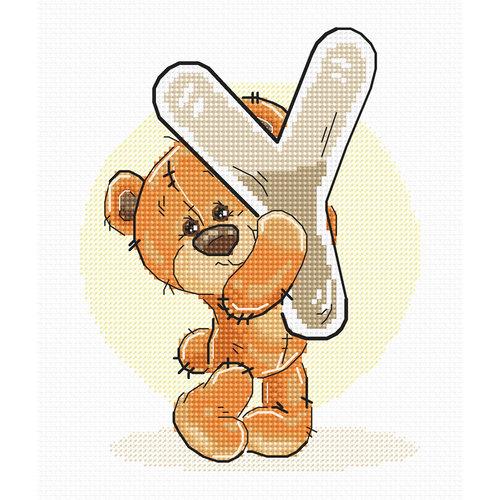 Luca-S Cross stitch kit Letter Y - Luca-S
