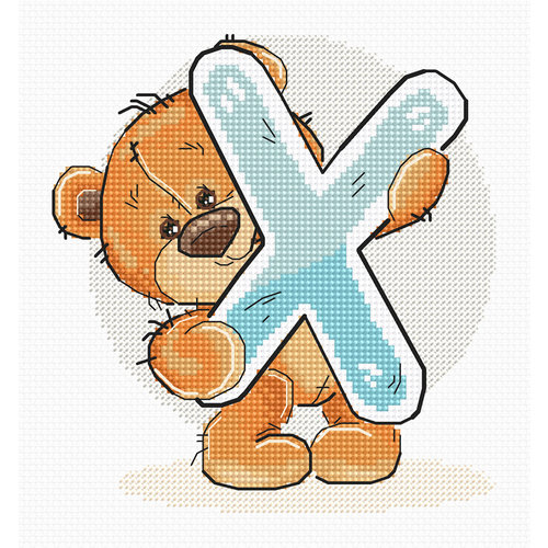 Luca-S Cross stitch kit Letter X - Luca-S