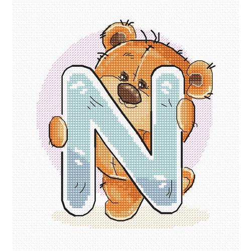 Luca-S Cross stitch kit Letter N - Luca-S