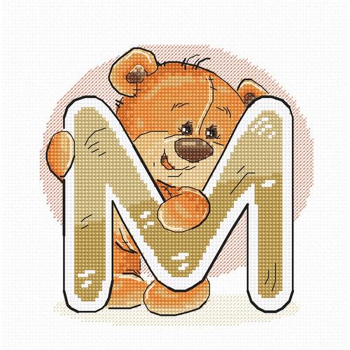 Luca-S Cross stitch kit Letter M - Luca-S