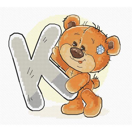 Luca-S Cross stitch kit Letter K - Luca-S