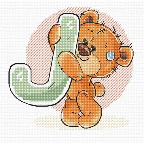 Luca-S Cross stitch kit Letter J - Luca-S