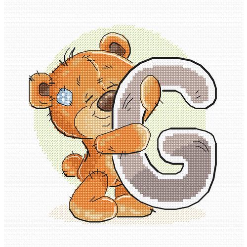 Luca-S Cross stitch kit Letter G - Luca-S