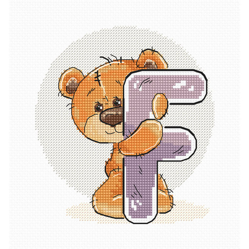 Luca-S Cross stitch kit Letter F - Luca-S