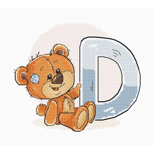 Luca-S Cross stitch kit Letter D - Luca-S