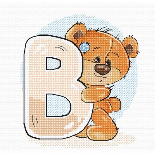 Luca-S Cross stitch kit Letter B - Luca-S