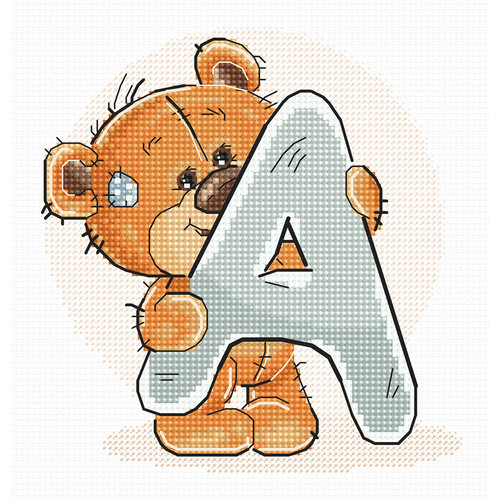 Luca-S Cross stitch kit Letter A - Luca-S