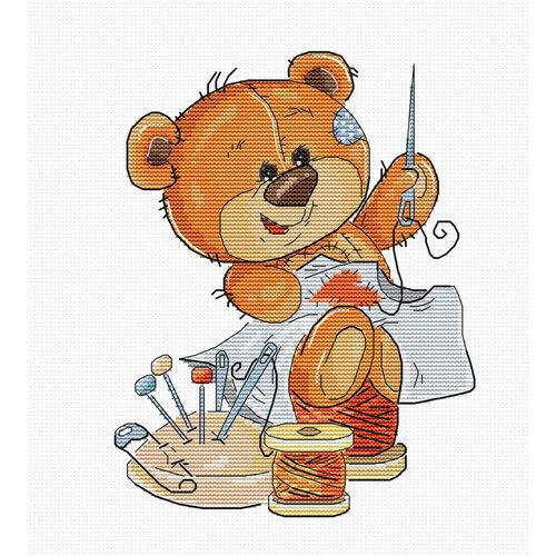 Luca-S Cross stitch kit Teddy Bear Stitching - Luca-S