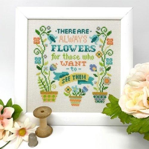Tiny Modernist Borduurpatroon Always Flowers
