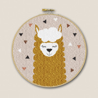 Borduurpakket Punch Needle - Alpaca Geel