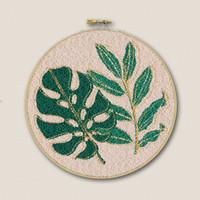 Borduurpakket Punch Needle - Botanisch (met goud)