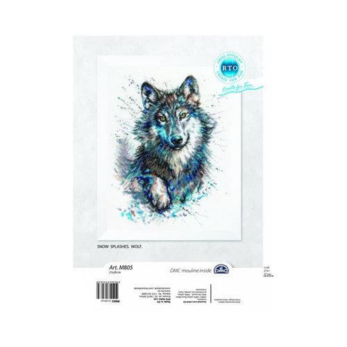 RTO Borduurpakket Snow Splashes: Wolf - RTO