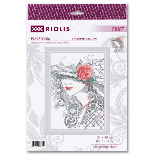 RIOLIS Borduurpakket Mysterious Ros? - RIOLIS