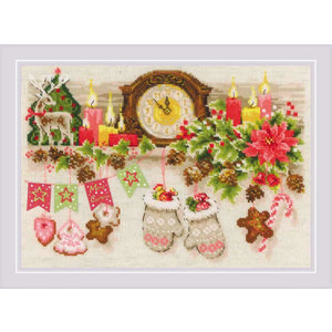 Leti Stitch Borduurpakket Christmas Shelf - RIOLIS