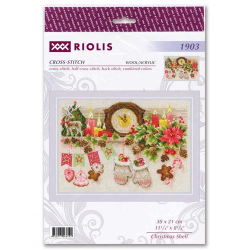 RIOLIS Borduurpakket Christmas Shelf - RIOLIS