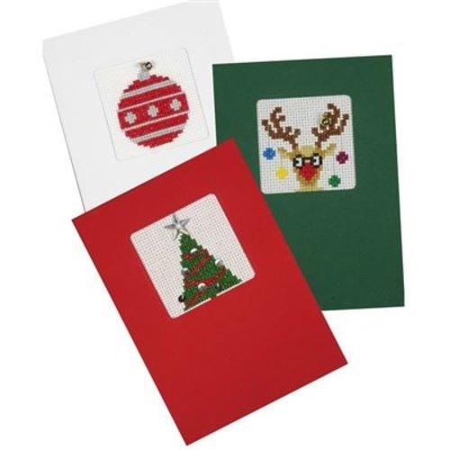 Pako Wenskaart kit Kerstkaarten set van 3  gekleurde kaarten