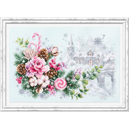 Chudo Igla Borduurpakket Christmas Sentiment - Chudo Igla
