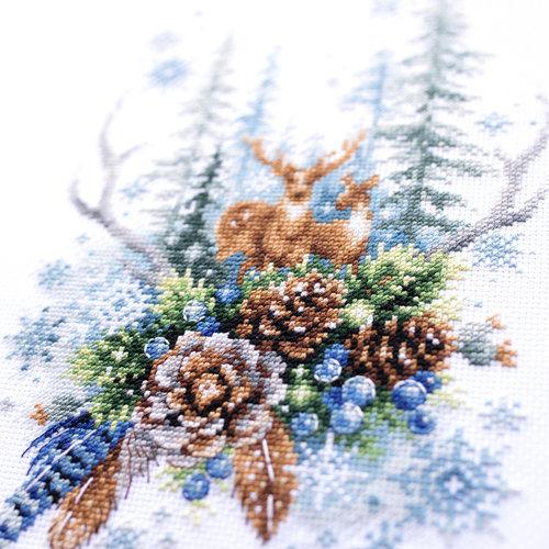 Chudo Igla Borduurpakket Winter Forest Spirit - Chudo Igla
