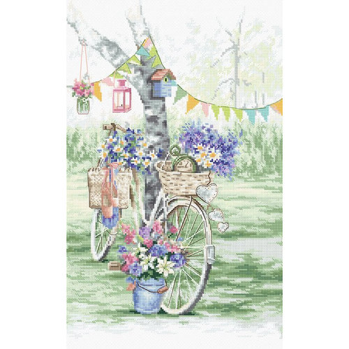 Leti Stitch Borduurpakket Bike - Leti Stitch