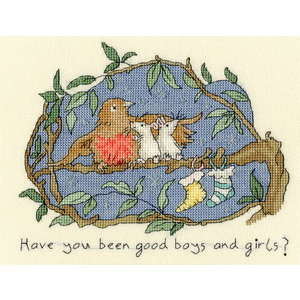 Bothy Threads Borduurpakket Anita Jeram - Have you been good? - Bothy Threads