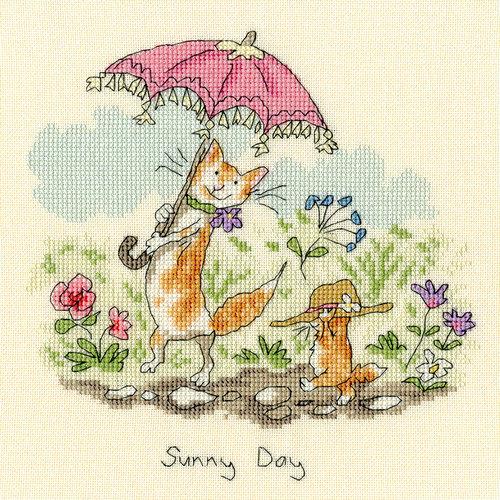 Bothy Threads Borduurpakket Anita Jeram - Sunny Day - Bothy Threads