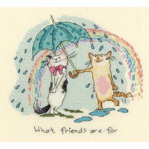 Bothy Threads Borduurpakket Anita Jeram - What Friends are for - Bothy Threads