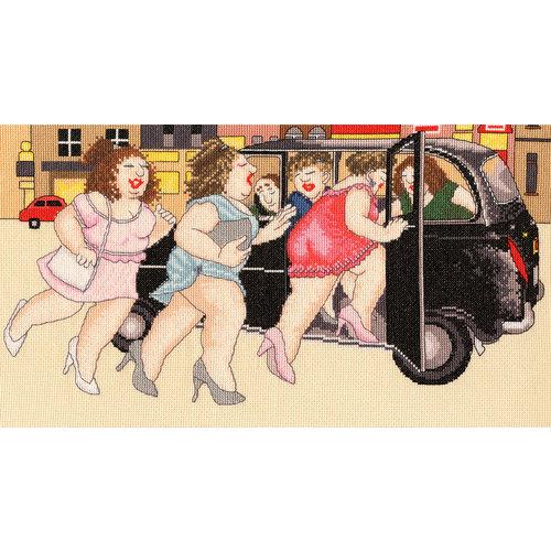 Bothy Threads Borduurpakket Beryl Cook - Taxi! - Bothy Threads