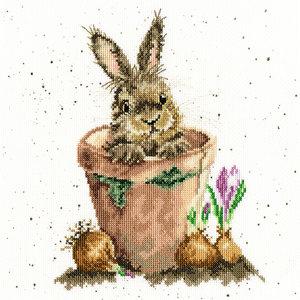 Bothy Threads Borduurpakket Hannah Dale - The Flower Pot - Bothy Threads