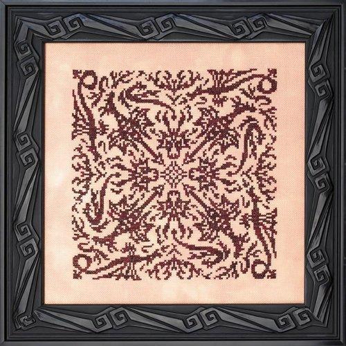 Ink Circles Borduurpatroon Elemental Dragons - Fire