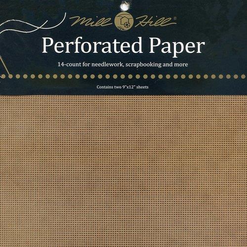Mill Hill Geperforeerd papier - Antiek Bruin