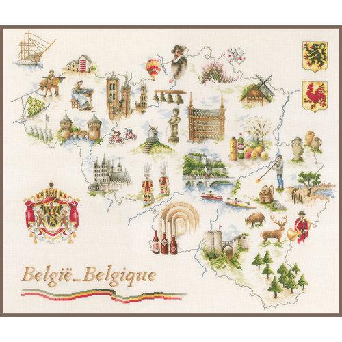Lanarte Telpakket kit Kaart van België