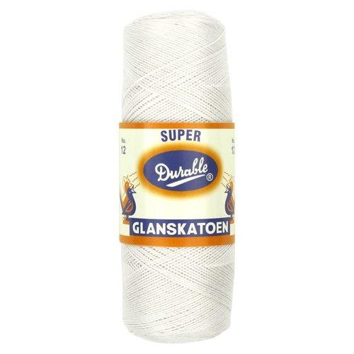 Durable Durable glanskatoen wit - no. 8