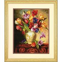 Borduurpakket The Gold Collection: Parrot Tulips - DIMENSIONS