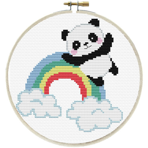 Needleart World Voorbedrukt borduurpakket Rainbow Panda - Needleart World