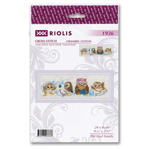 RIOLIS Borduurpakket The Owl Family - RIOLIS