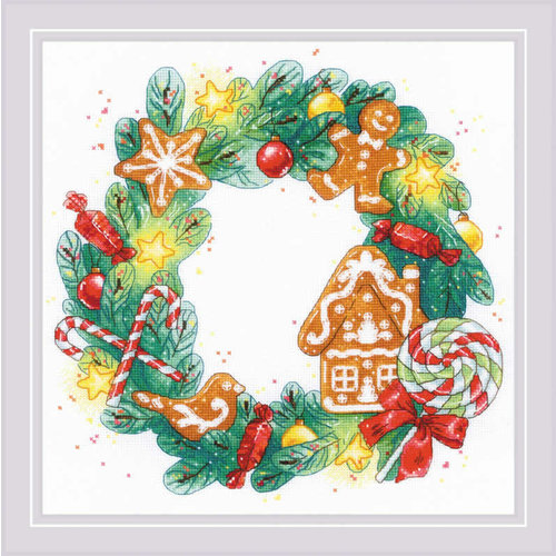 RIOLIS Borduurpakket Gingerbread Wreath - RIOLIS