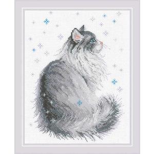 RIOLIS Borduurpakket Snowy Meow - RIOLIS