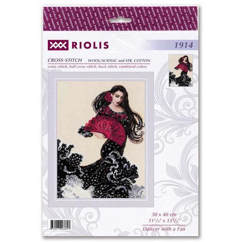 RIOLIS Borduurpakket Dancer with a Fan - RIOLIS