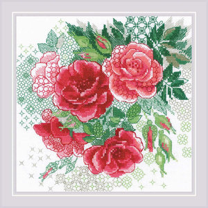 RIOLIS Borduurpakket Red Rose Hip - RIOLIS