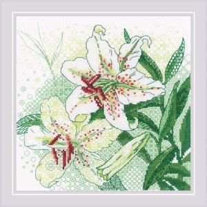 RIOLIS Borduurpakket White Lilies - RIOLIS