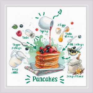 RIOLIS Borduurpakket Receipe: Pancakes - RIOLIS