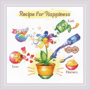 RIOLIS Borduurpakket Receipe for Happiness - RIOLIS