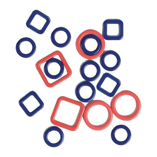 KnitPro Metalen Steekmarkeerders - 4 maten - 40 stuks