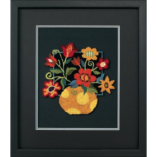 Dimensions Punch Needle Pakket - Floral on Black - DIMENSIONS