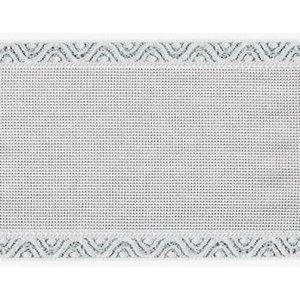 Zweigart Zweigart Aidaband 12 cm - wit met zilver